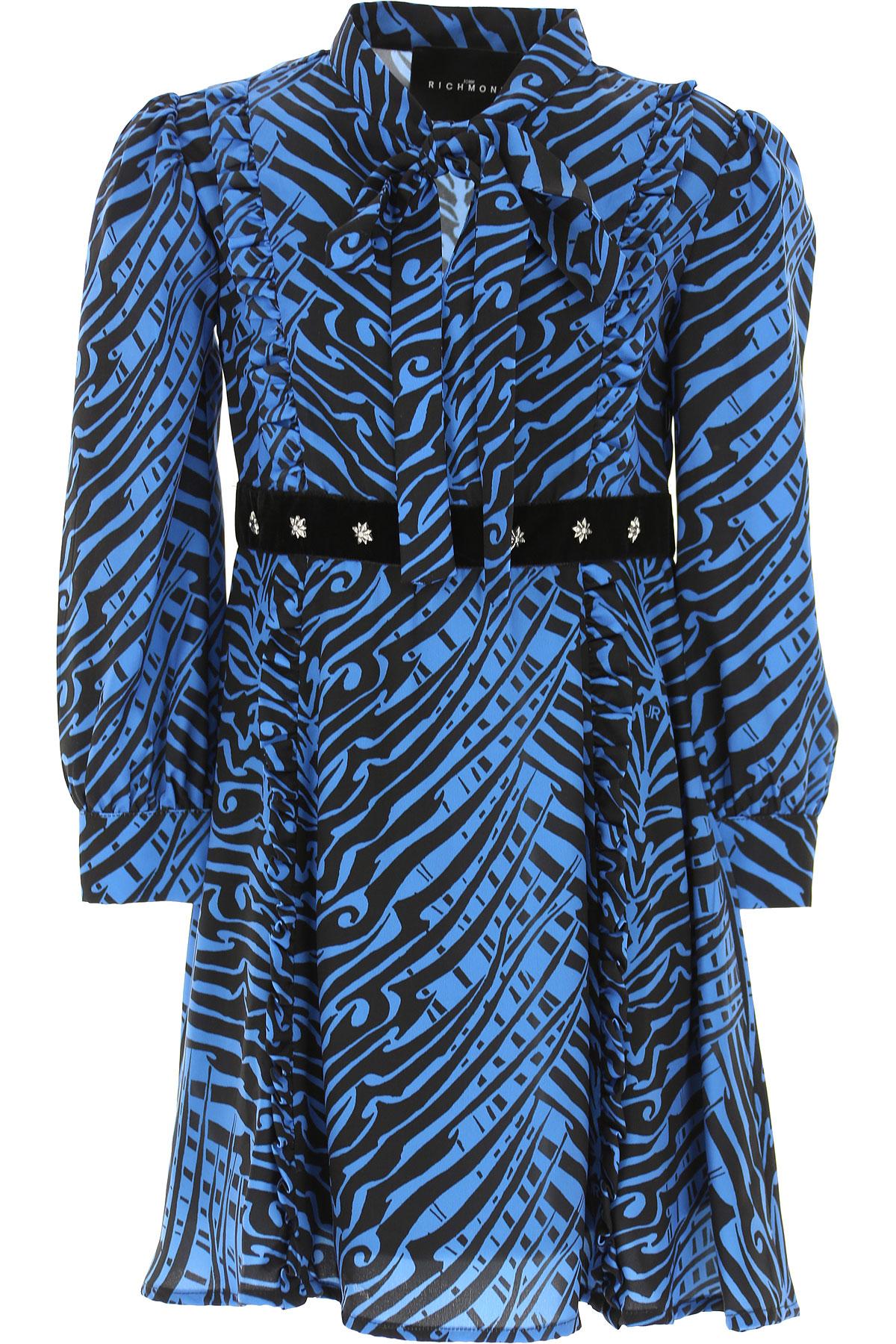 John Richmond Girls Dress On Sale, Dark Sky Blue, polyester, 2019, 10Y 12Y 14Y 16Y 6Y 8Y