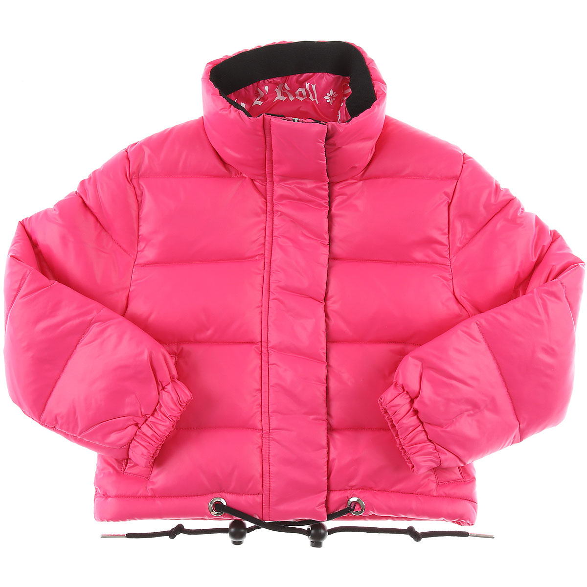 Image of John Richmond Girls Down Jacket for Kids, Puffer Ski Jacket, Fuchsia, polyamide, 2017, 10Y 14Y 16Y 2Y 4Y 6Y 8Y