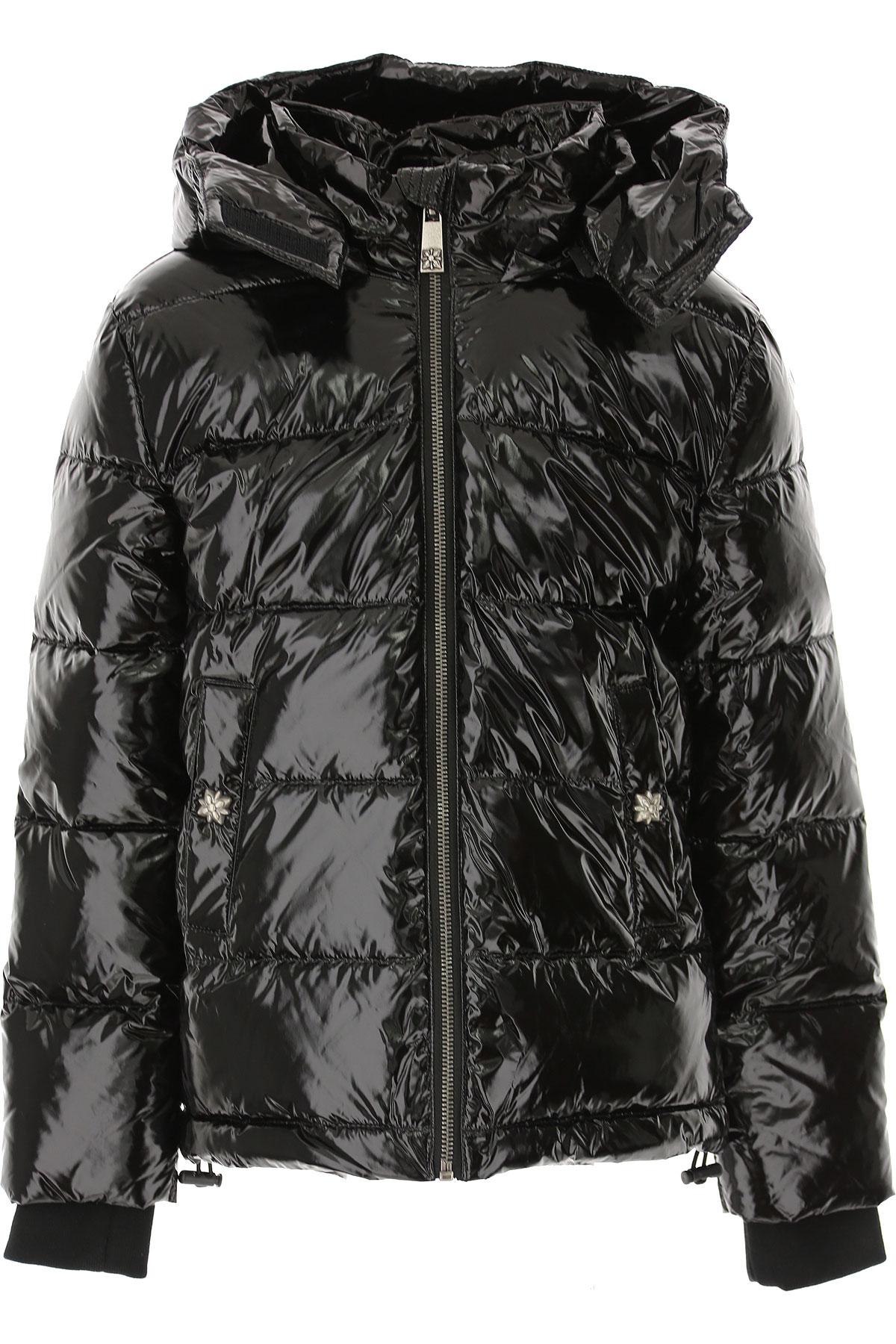 John Richmond Boys Down Jacket for Kids, Puffer Ski Jacket On Sale, Black, polyester, 2019, 10Y 16Y 4Y