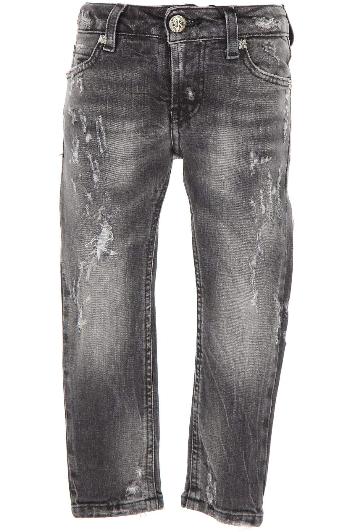 Image of John Richmond Kids Jeans for Boys, Denim Grey, Cotton, 2017, 14Y 2Y 4Y 6Y 8Y