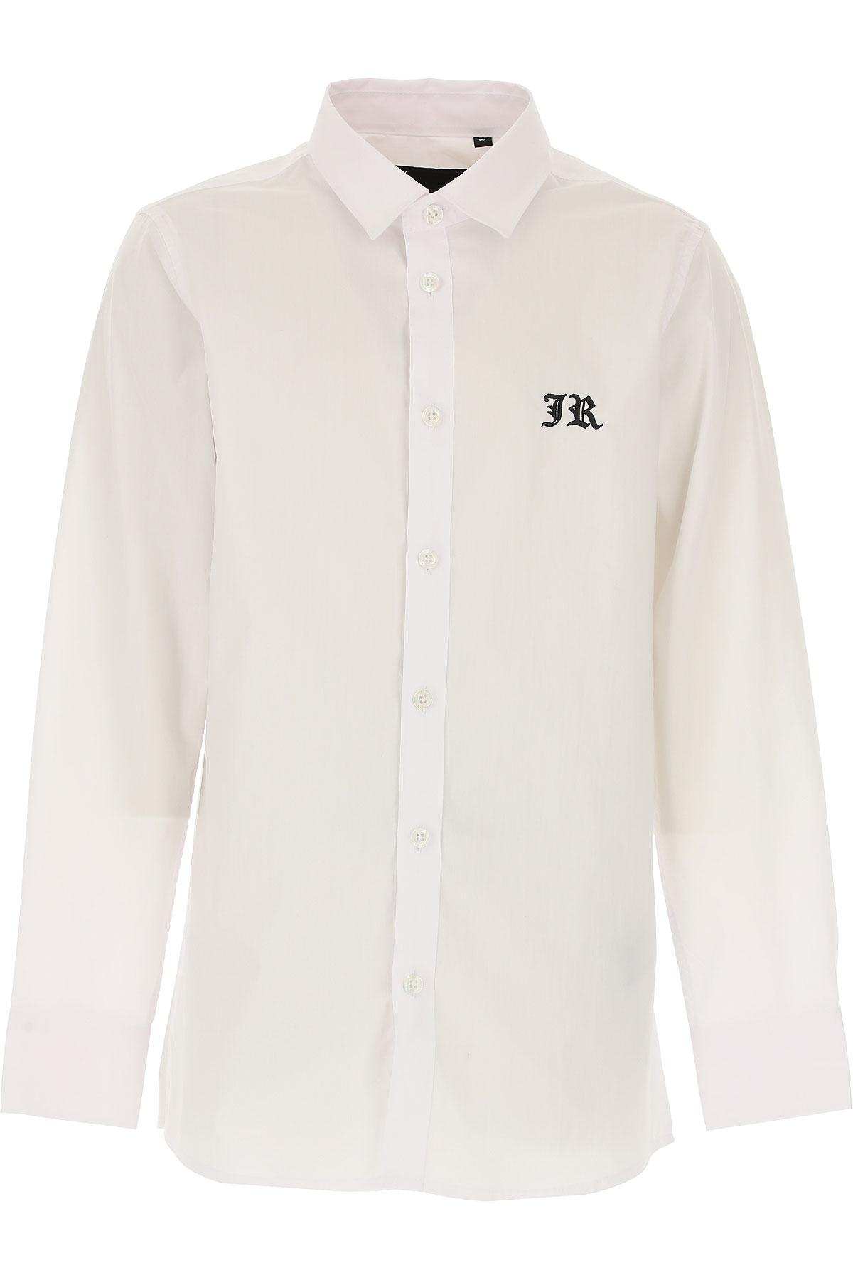 Richmond Chemises Enfant pour Garçon Pas cher en Soldes, Blanc, Coton, 2019, 10Y 12Y 14Y 16Y 8Y