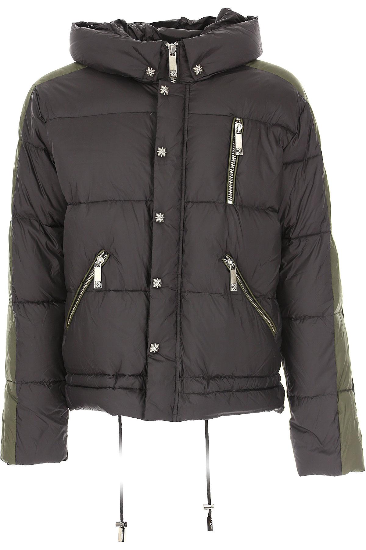 John Richmond Down Jacket for Men, Puffer Ski Jacket On Sale, Black, Down, 2019, L M S XL
