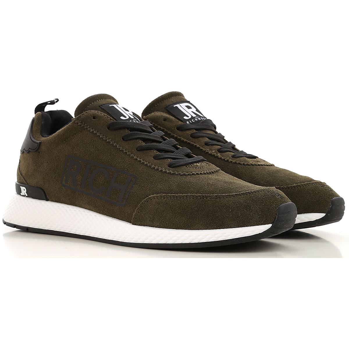Richmond Sneaker Homme, Vert forêt, Daim, 2019, 41 42 43 44.5 46