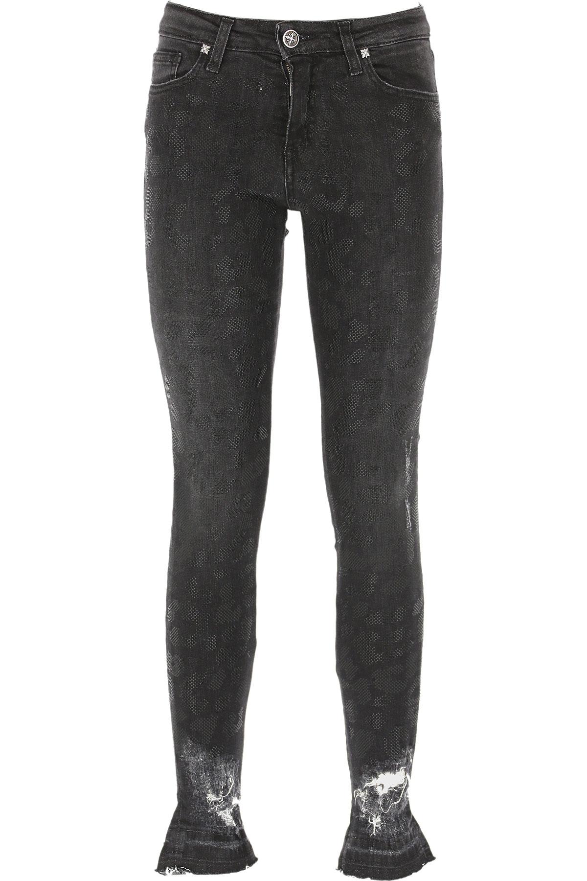 John Richmond Jeans On Sale, Dark Anthracite Grey, Cotton, 2019, 24 26 27 28 30