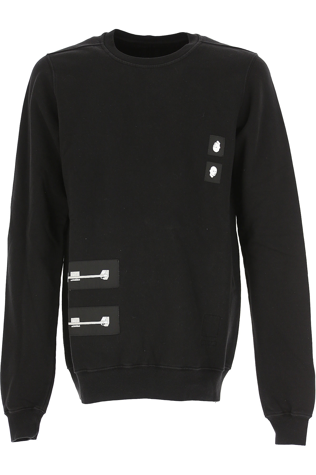 Rick Owens Sweatshirt for Men On Sale in Outlet, Black, Cotton, 2019, M S
