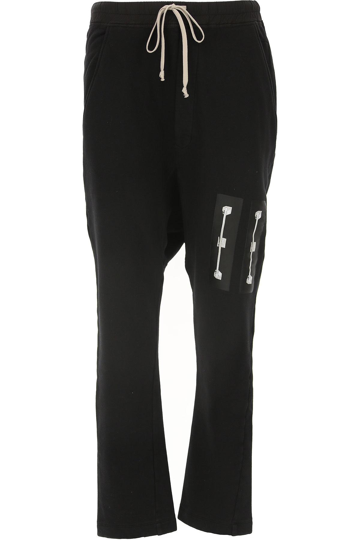 Rick Owens Pants for Men On Sale in Outlet, Black, Cotton, 2019, 30 32