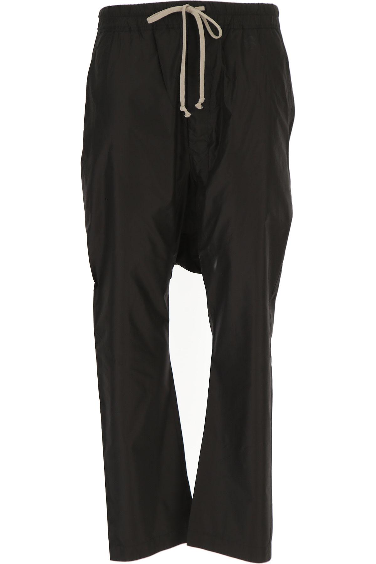 Rick Owens Pants for Men On Sale in Outlet, Black, Silk, 2019, 32 34 36