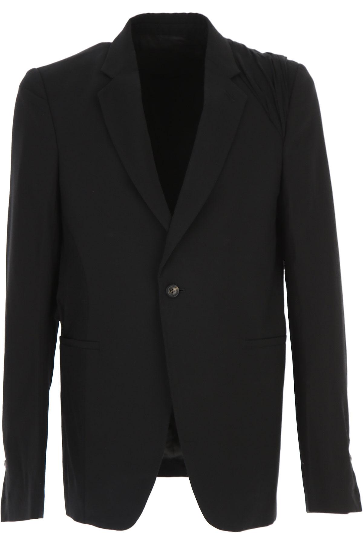 Image of Rick Owens Blazer for Men, Sport Coat On Sale in Outlet, Black, Wool, 2017, L XL