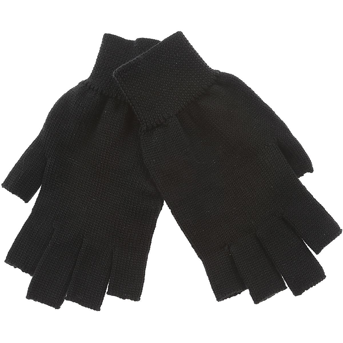 Image of Rick Owens Gloves for Men, Black, Wool, 2017