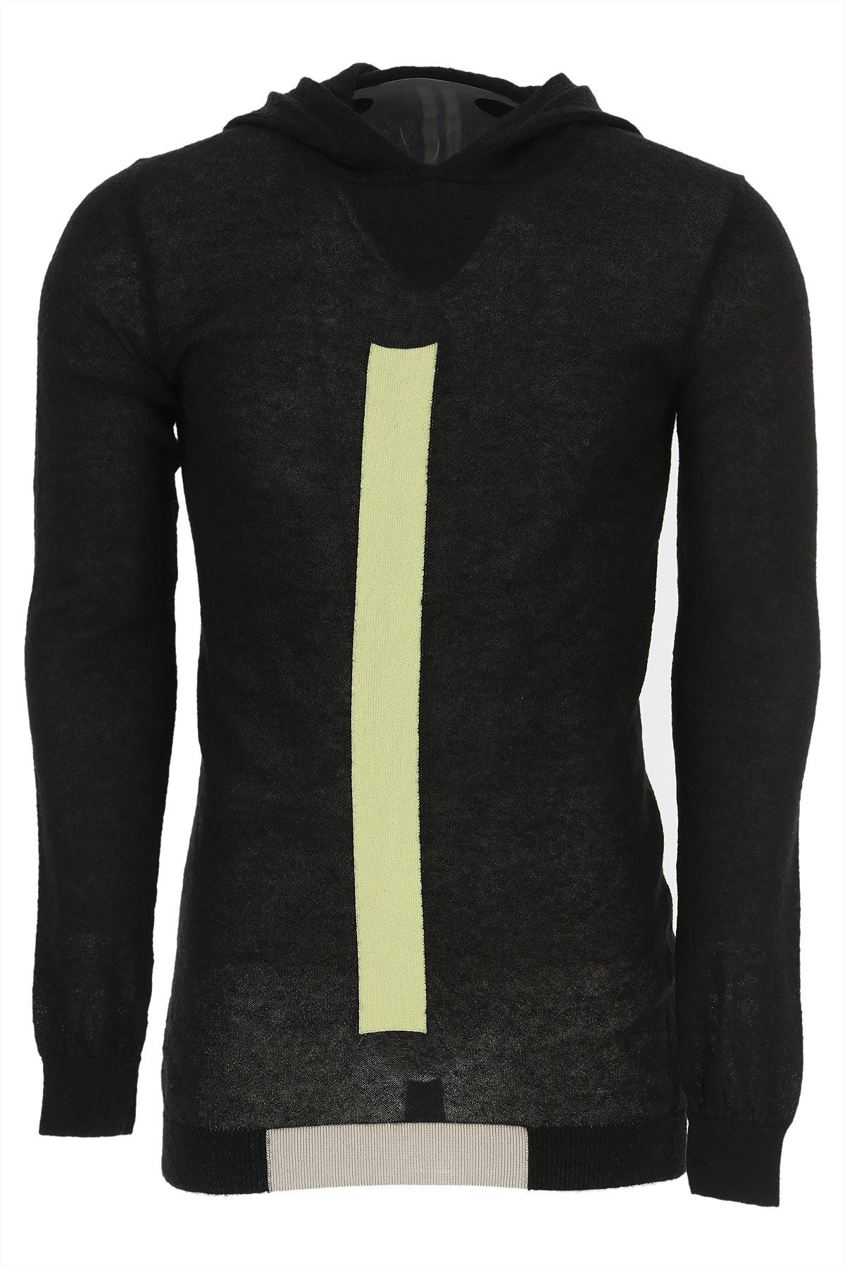 Rick Owens Sweater for Men Jumper On Sale in Outlet, Black, Baby Alpaca, 2019, L M S