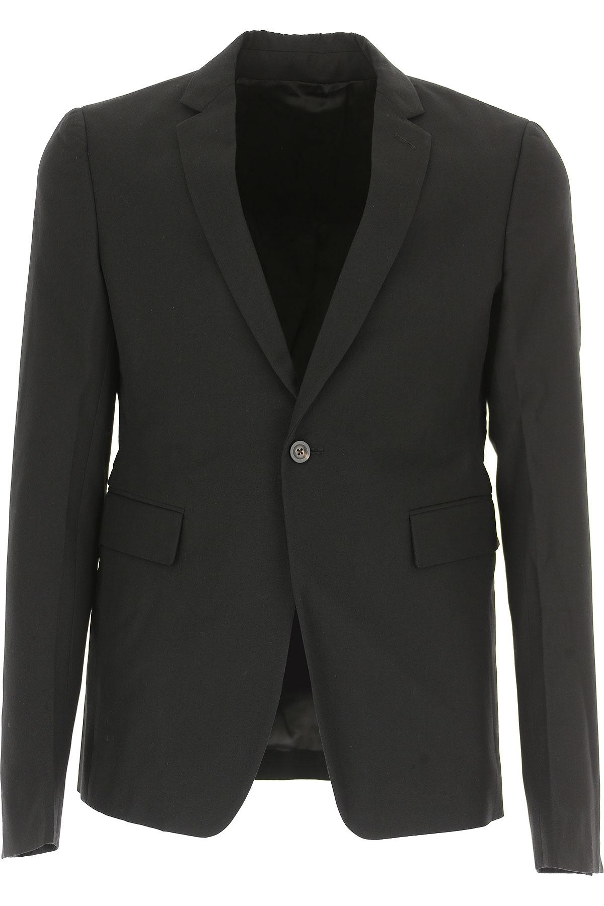 Image of Rick Owens Blazer for Men, Sport Coat, Black, Virgin wool, 2017, L M XL