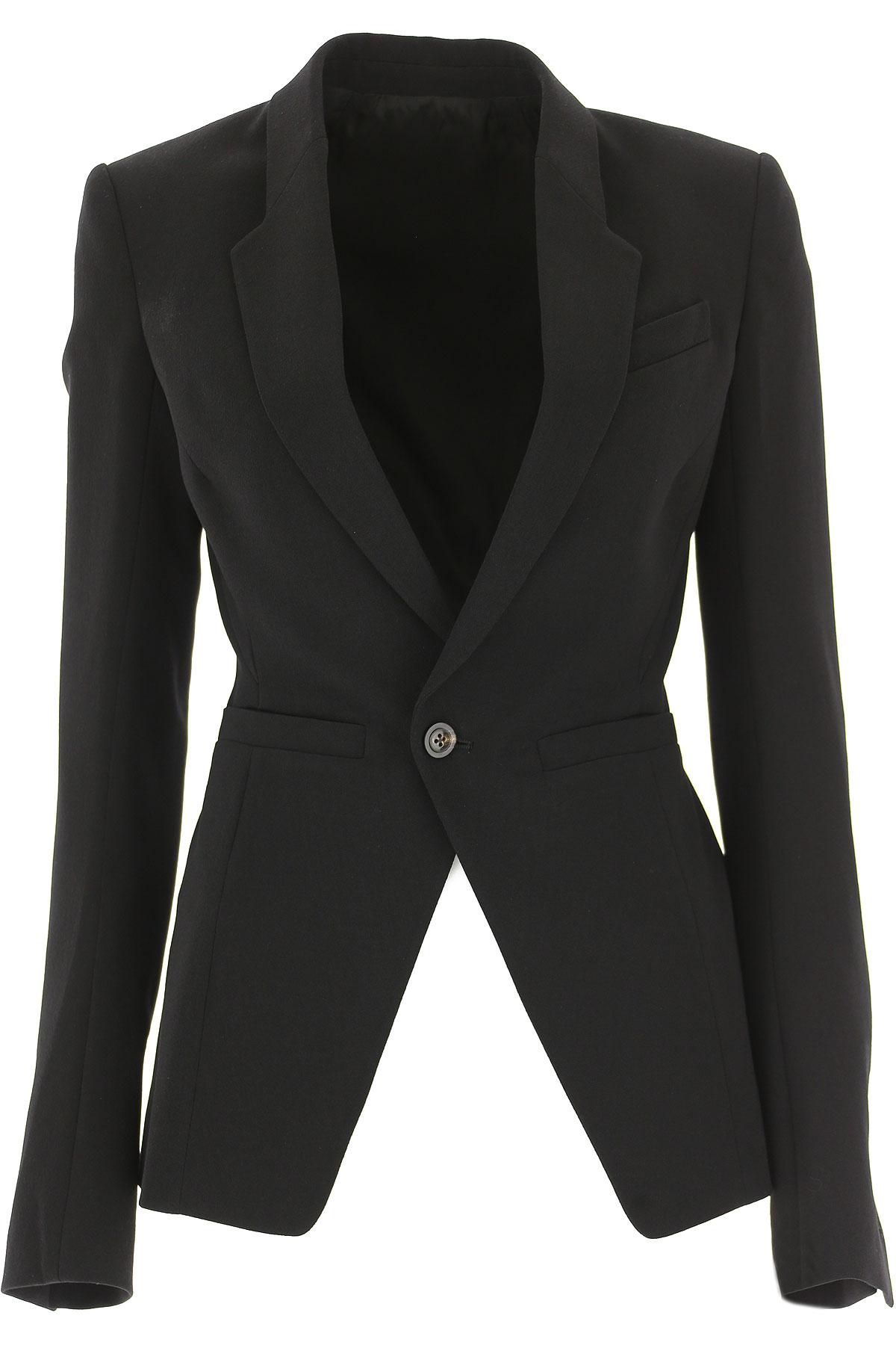 Image of Rick Owens Blazer for Women, Black, New Wool, 2017, 10 4 6 8