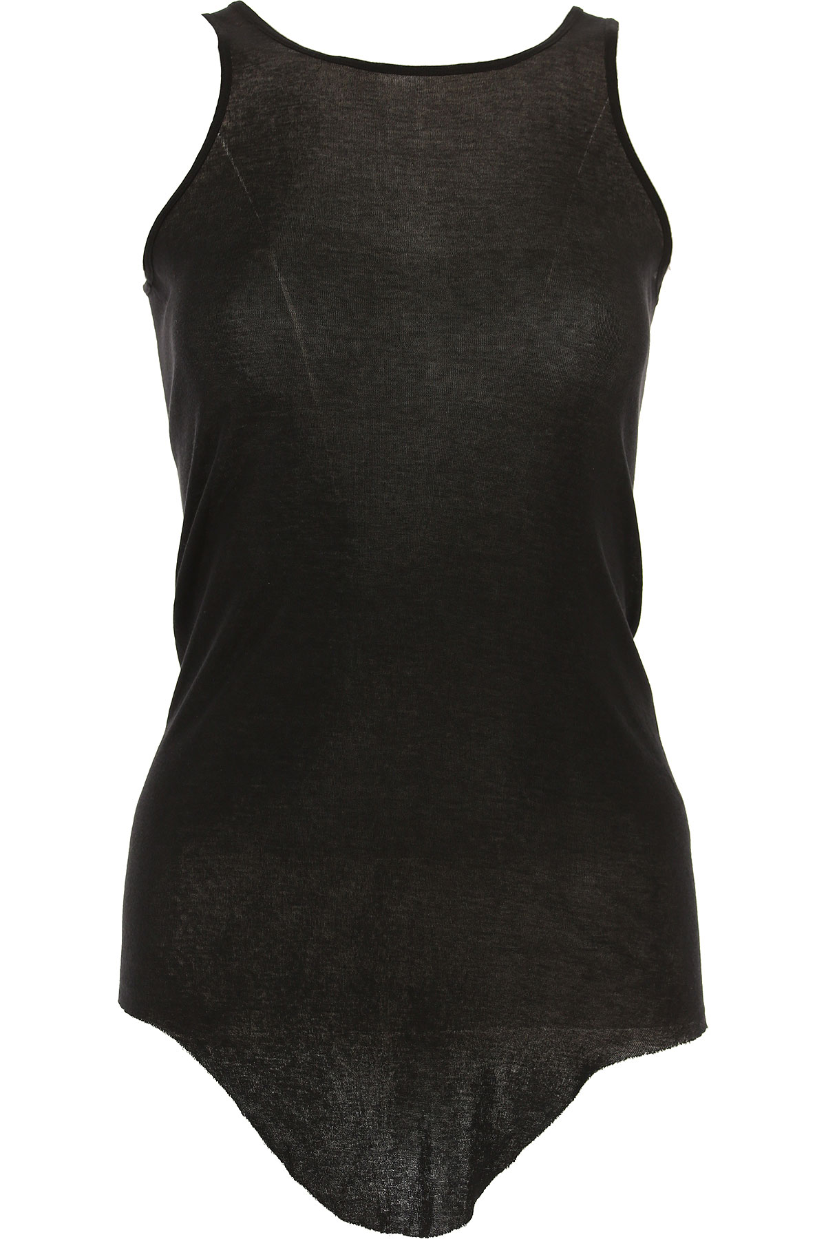 Image of Rick Owens Tank Top for Women On Sale, Black, Cotton, 2017, 4 6 8