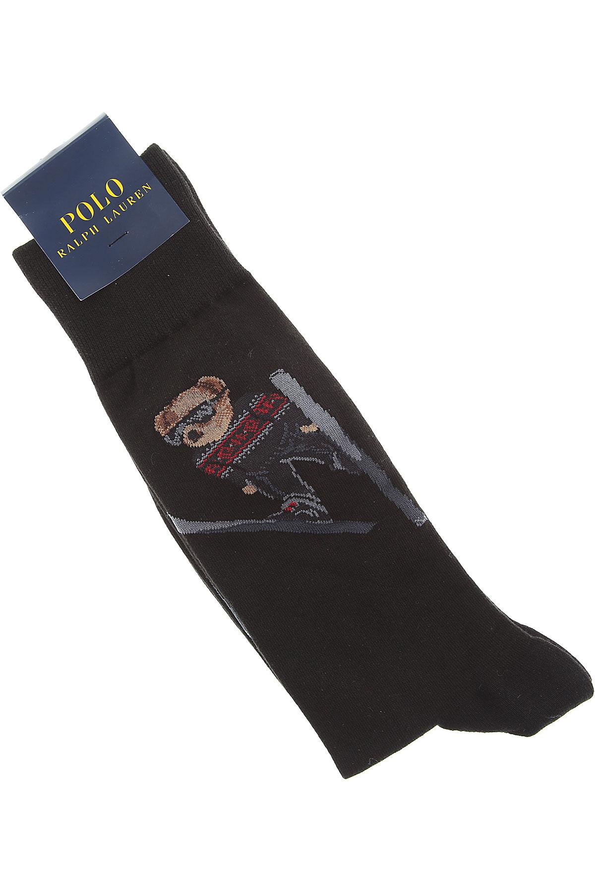 Image of Ralph Lauren Socks Socks for Men, Black, Cotton, 2017
