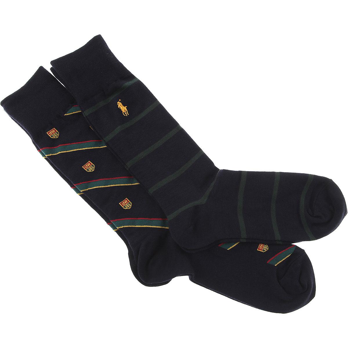Image of Ralph Lauren Socks Socks for Men, 2 Pack, Blue Navy, Cotton, 2017
