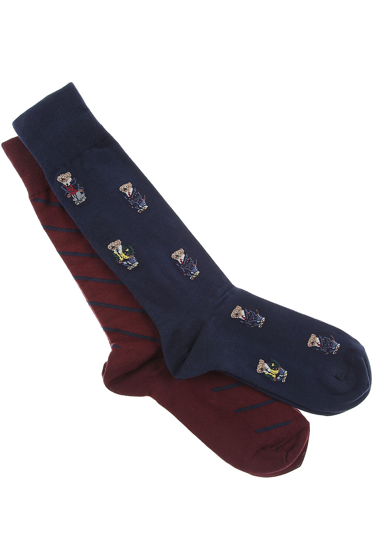 Image of Ralph Lauren Socks Socks for Men, 2 Pack, Dark Bordeaux, Cotton, 2017