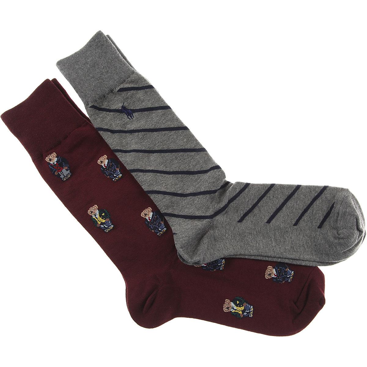 Ralph Lauren Socks Socks for Men, 2 Pack, Bordeaux, Cotton, 2019