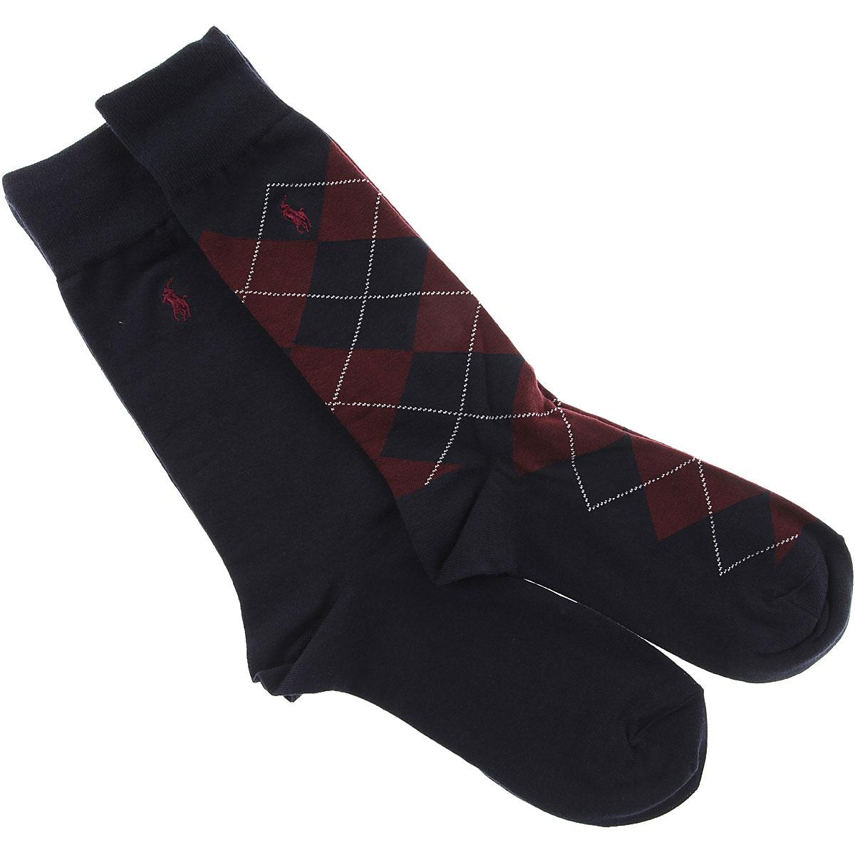 Image of Ralph Lauren Socks Socks for Men, 2 Pack, Bordeaux, Cotton, 2017