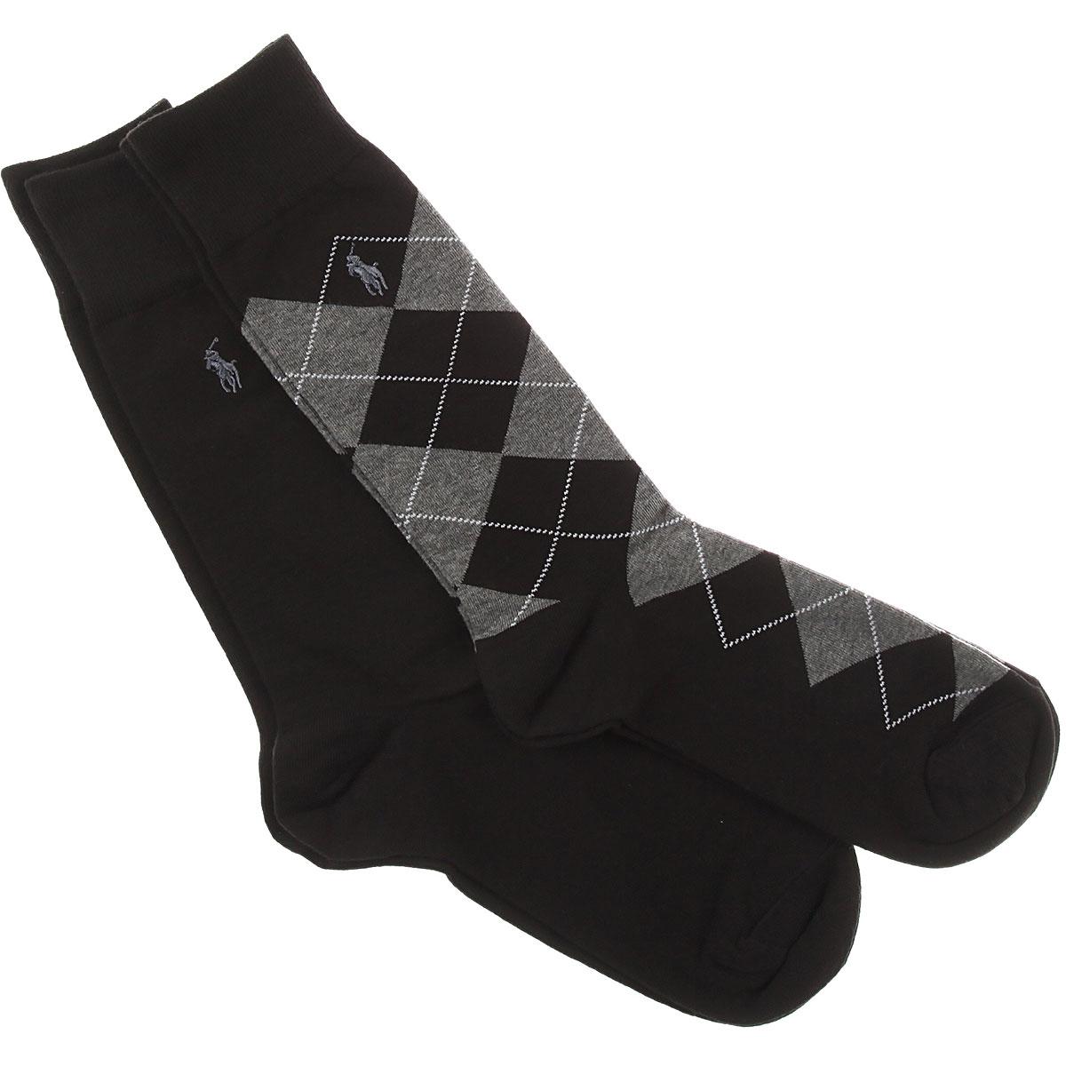 Ralph Lauren Socks Mens Underwear, 2 Pack, Black, Cotton, 2019