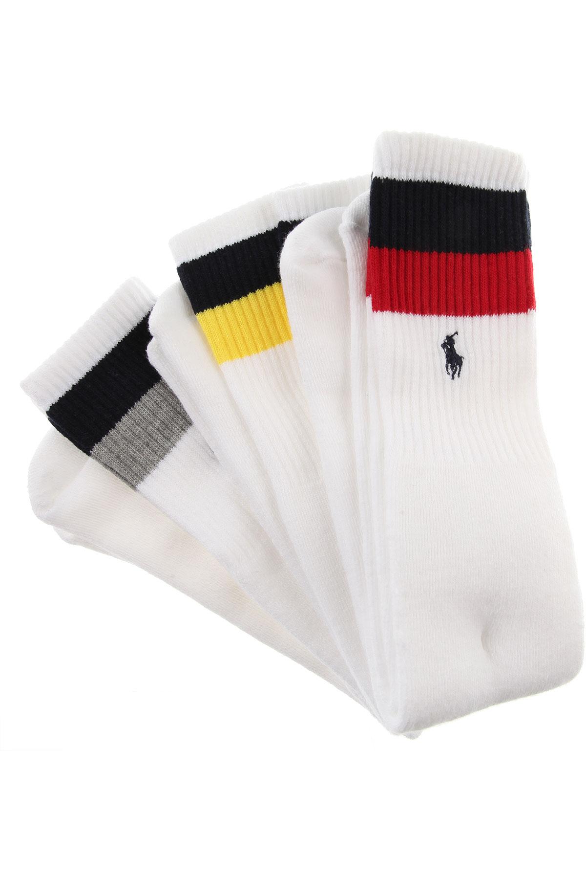 Image of Ralph Lauren Socks Socks for Men, 3 Pack, White, polyester, 2017