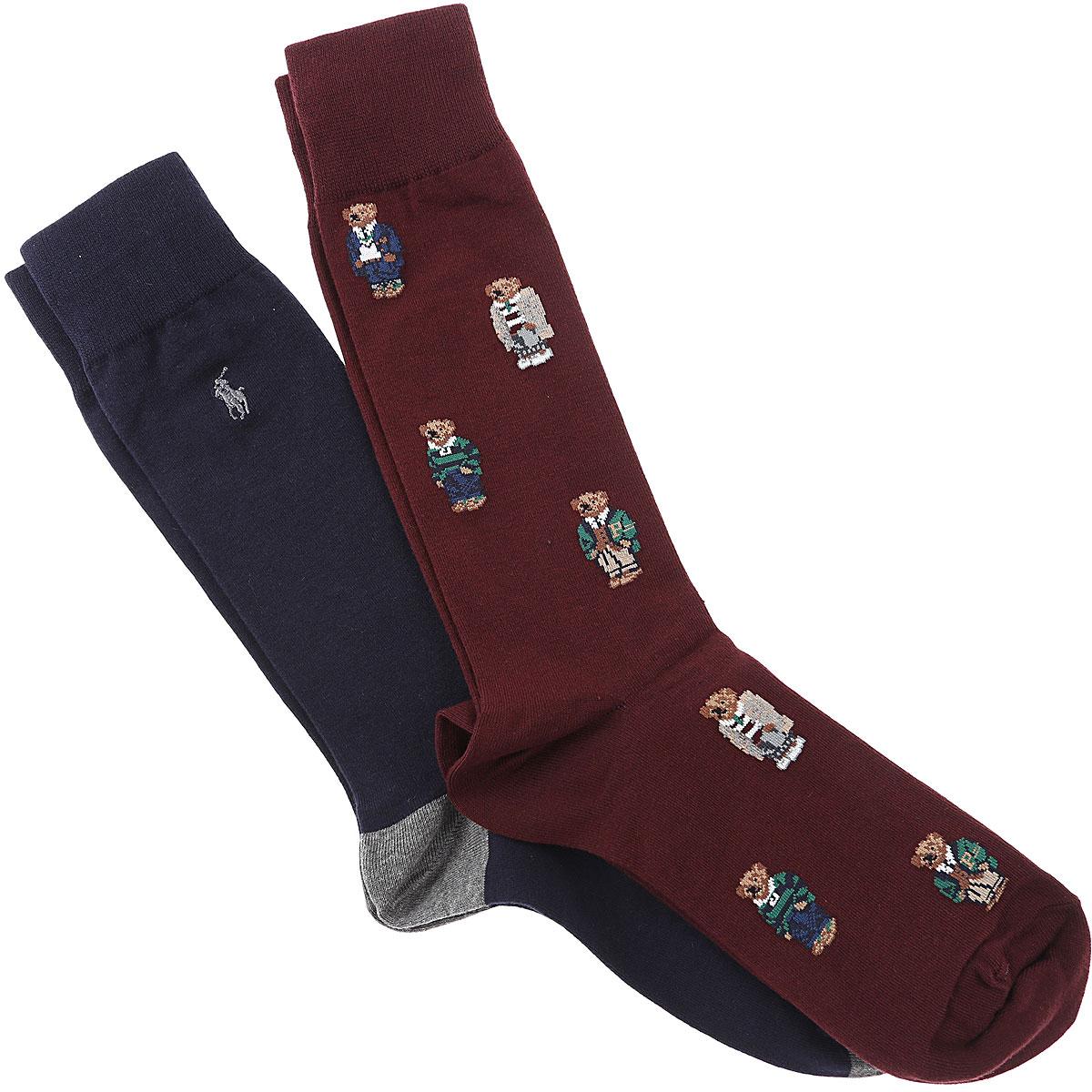 Ralph Lauren Socks Socks for Men, Wine, Cotton, 2019