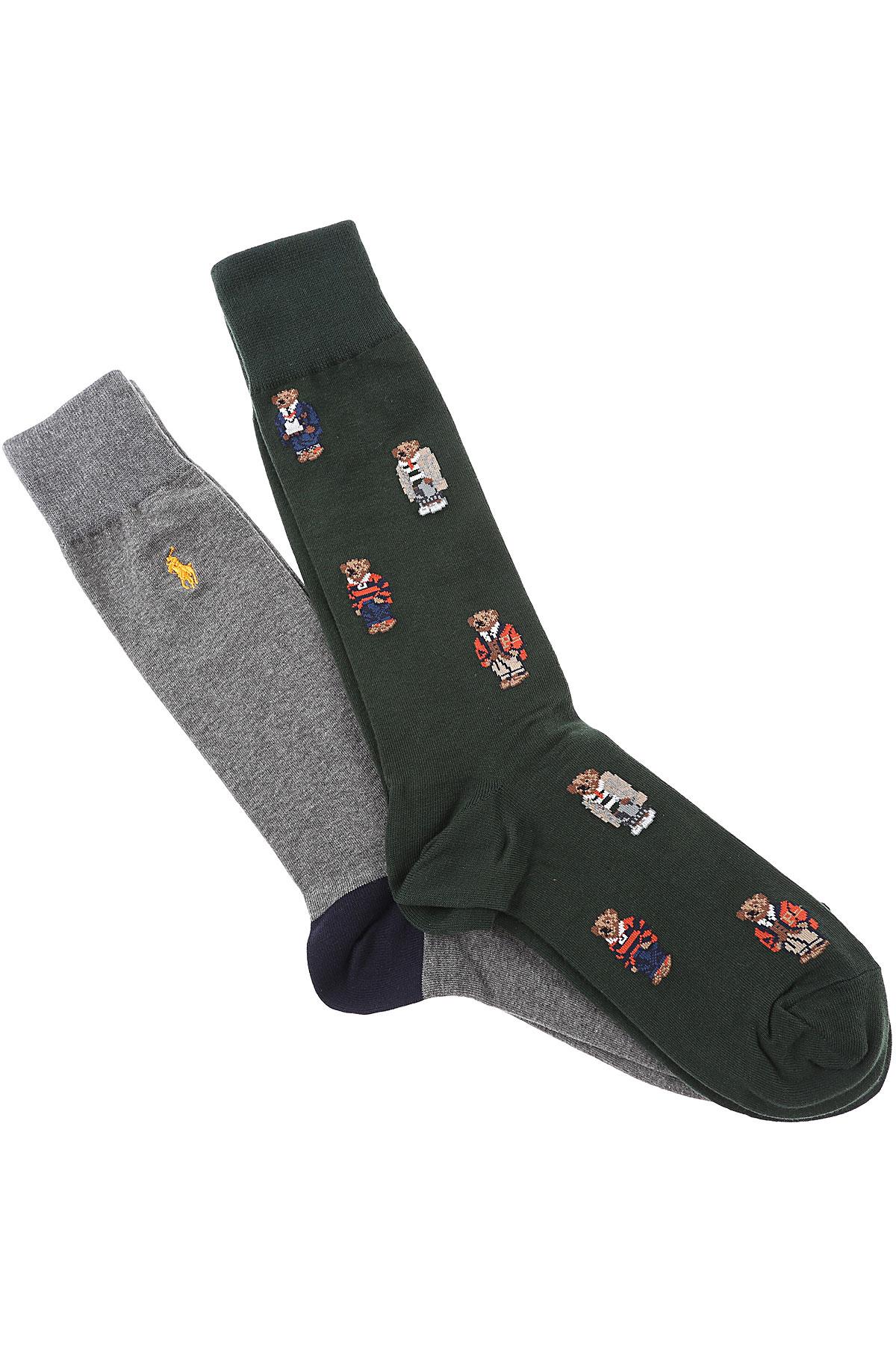 Ralph Lauren Socks Socks for Men, 2 Pack, Forest Green, Cotton, 2019