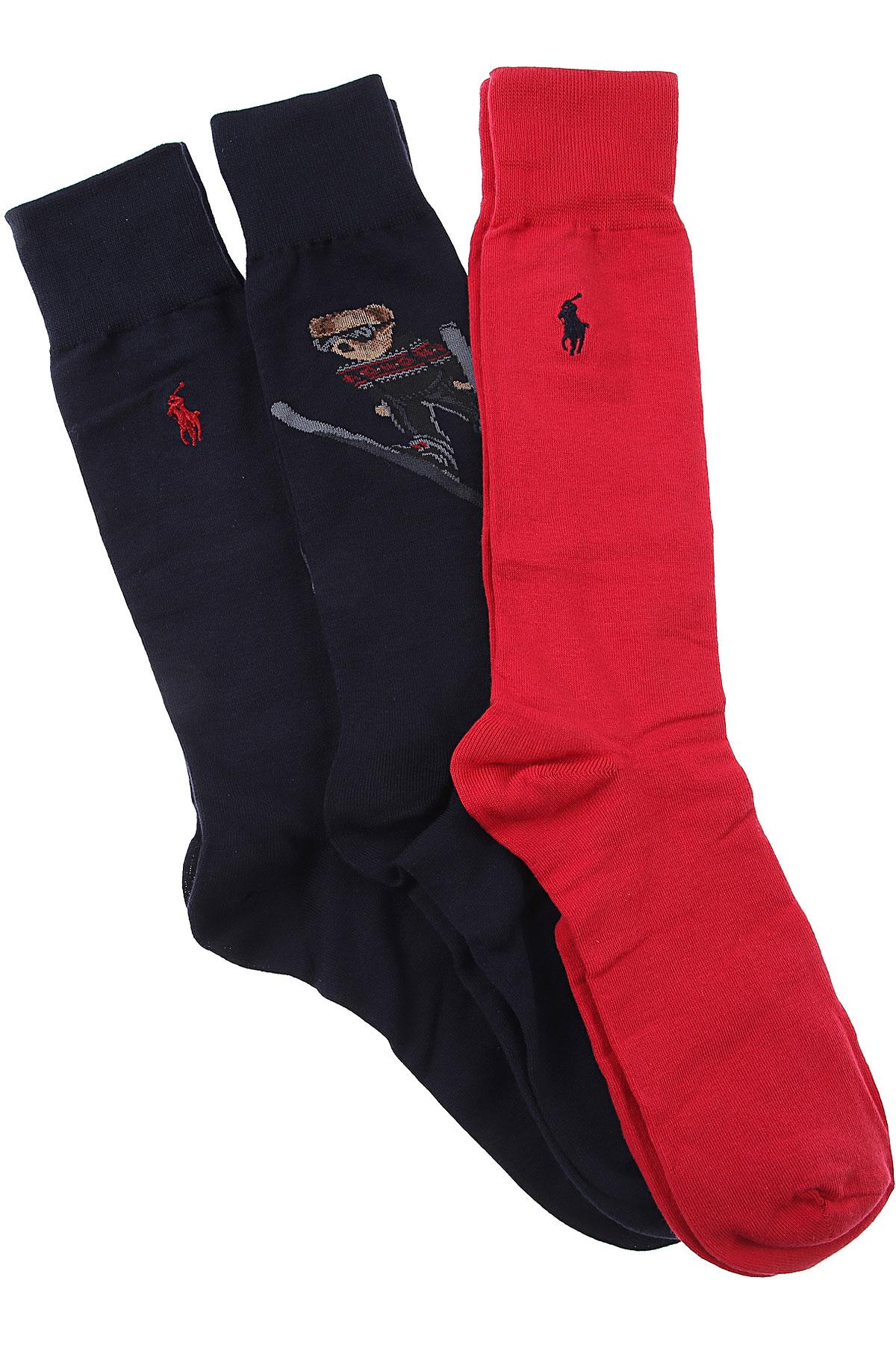 Ralph Lauren Socks Socks for Men, Dark Blue, Cotton, 2019