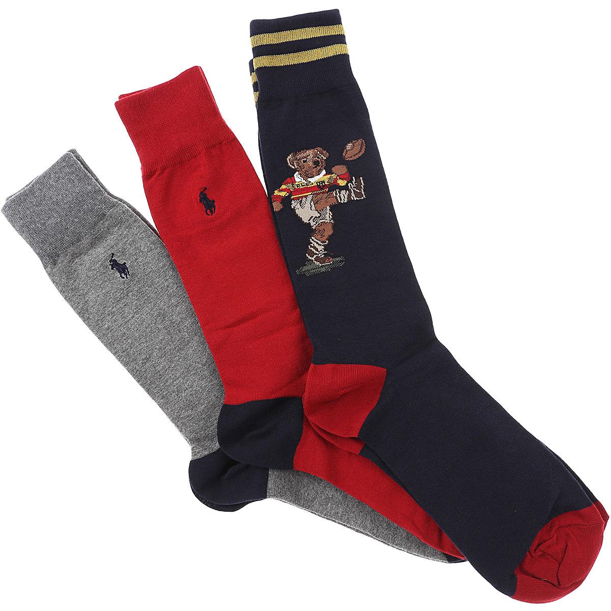 Ralph Lauren Socks Socks for Men, 3 Pack, Blue, Cotton, 2019
