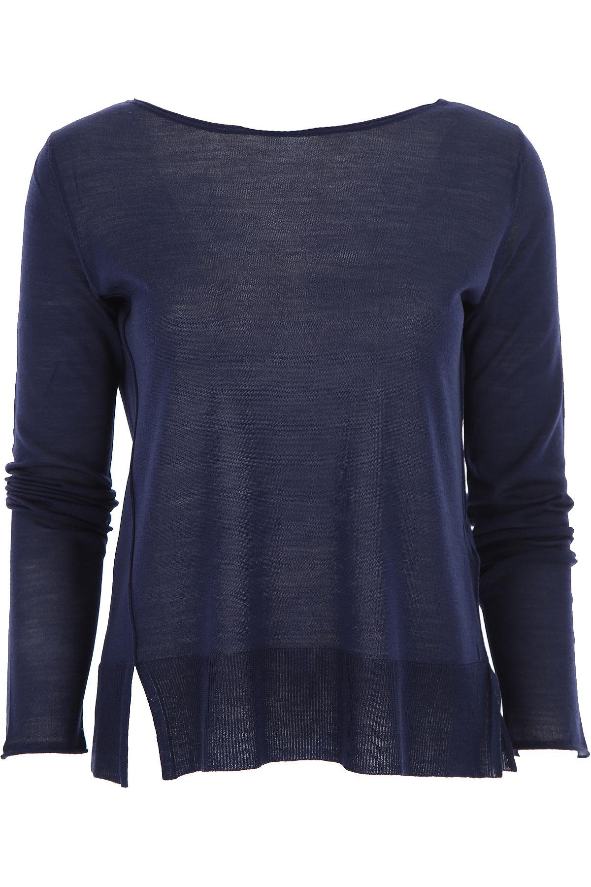 Roberto Collina Sweater for Women Jumper On Sale, Midnight Blue, Merinos Wool, 2019, 4 6 8