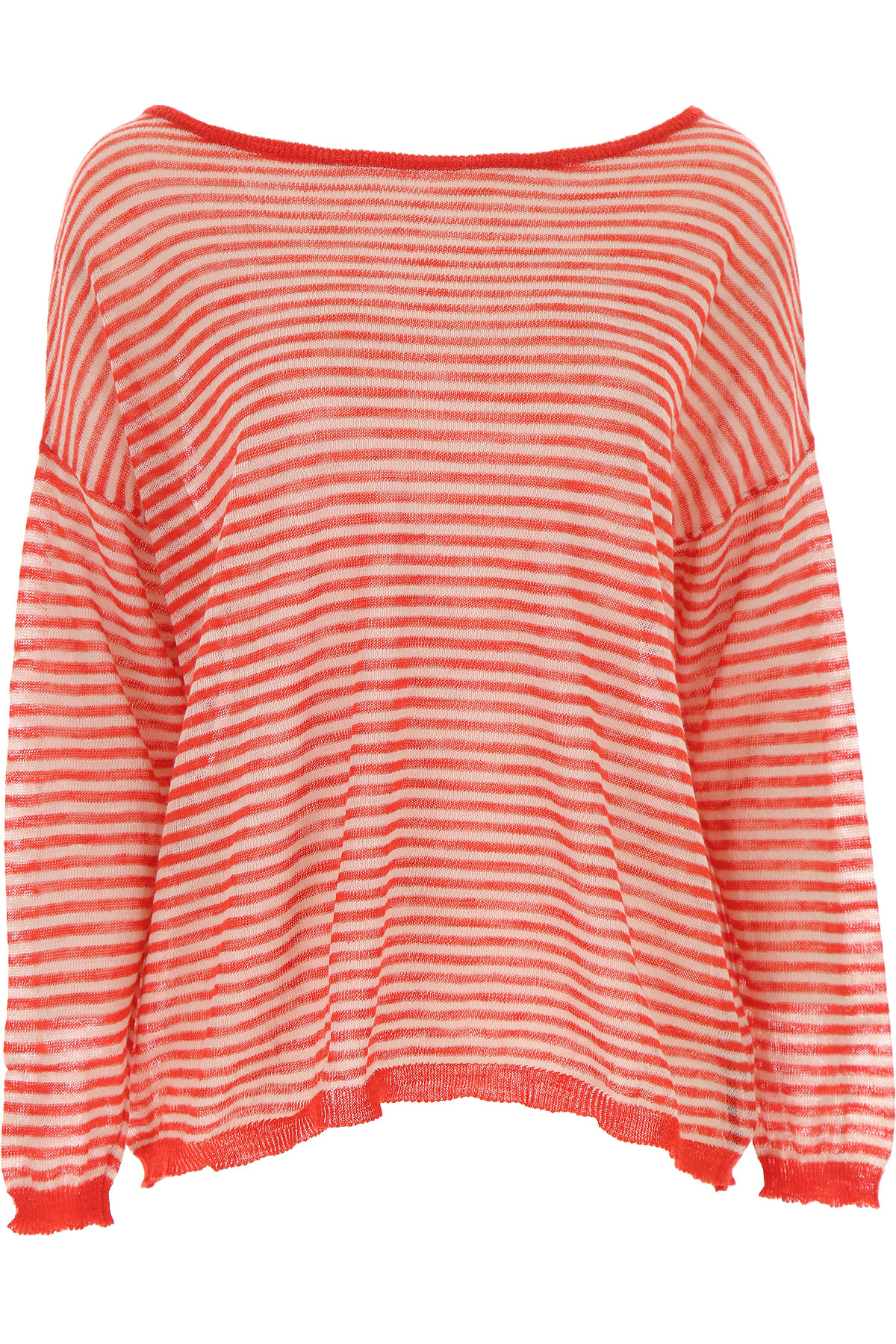 Roberto Collina Top for Women On Sale, Red, Cotton, 2019, 4 6 XS