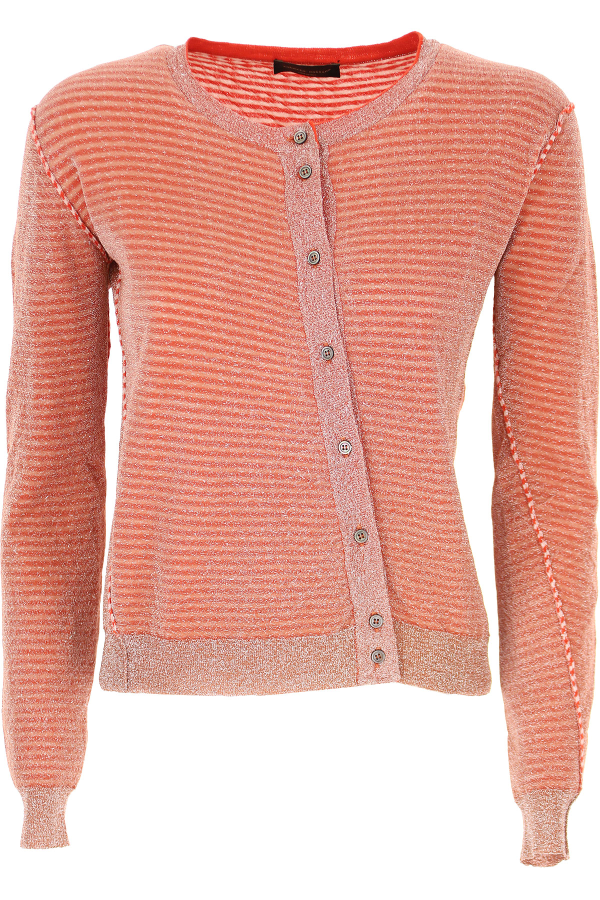 Roberto Collina Sweater for Women Jumper On Sale, Geranium Red, Cotton, 2019, 4 6 8
