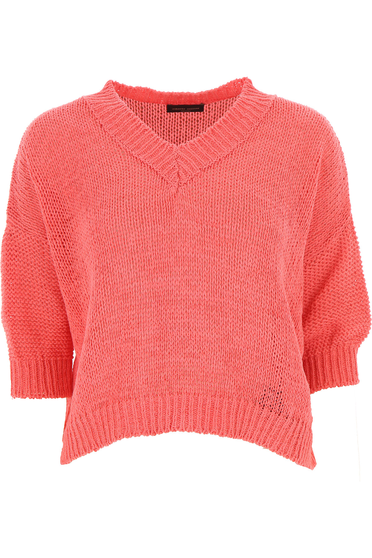 Roberto Collina Sweater for Women Jumper On Sale, Coral Pink, Cotton, 2019, 4 8 XS