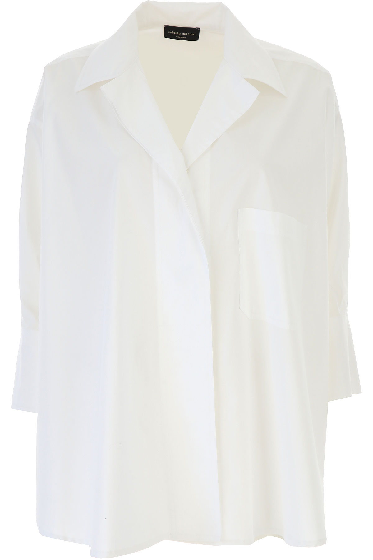 Roberto Collina Top for Women On Sale, White, Cotton, 2019, 4 XS