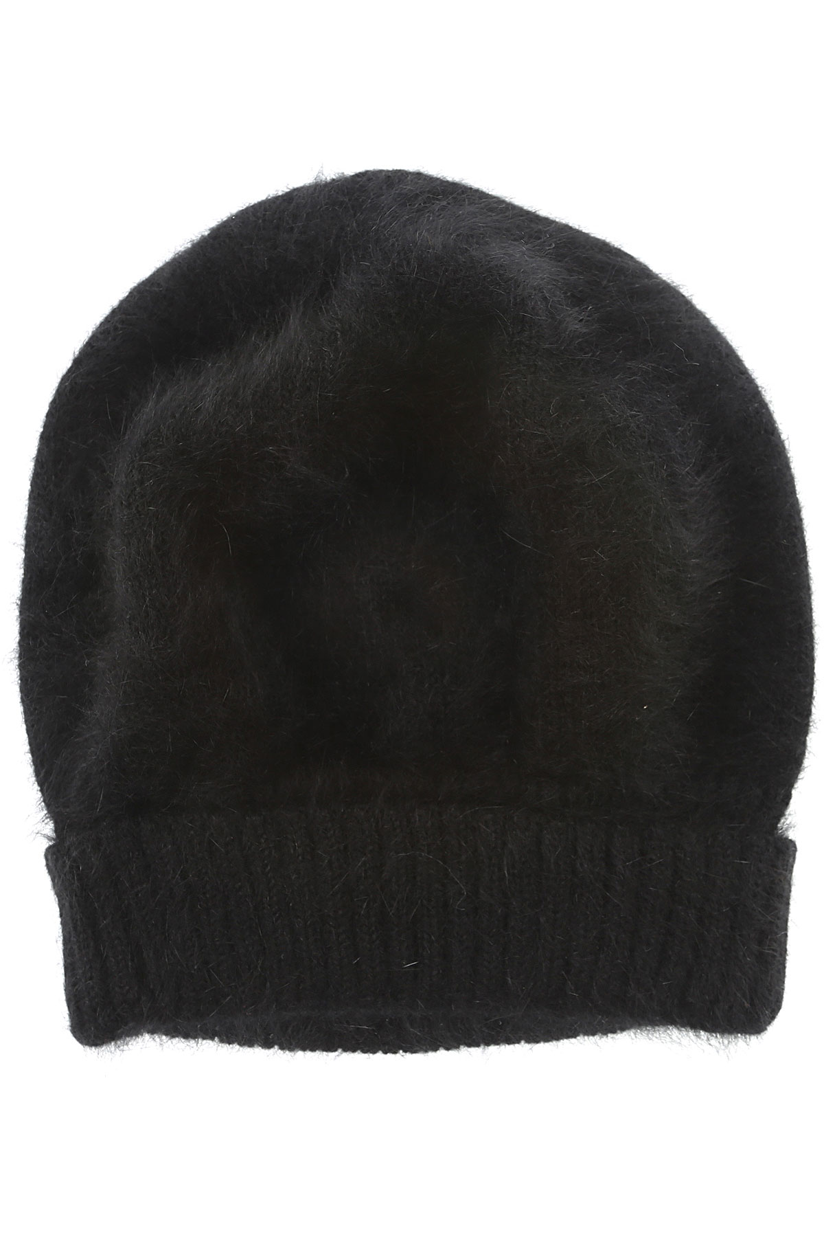 Image of Roberto Collina Hat for Women, Black, Angora, 2017