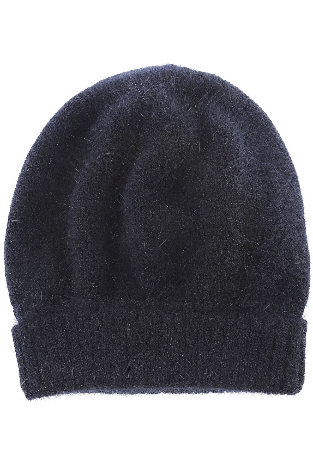 Image of Roberto Collina Hat for Women, navy, Angora, 2017