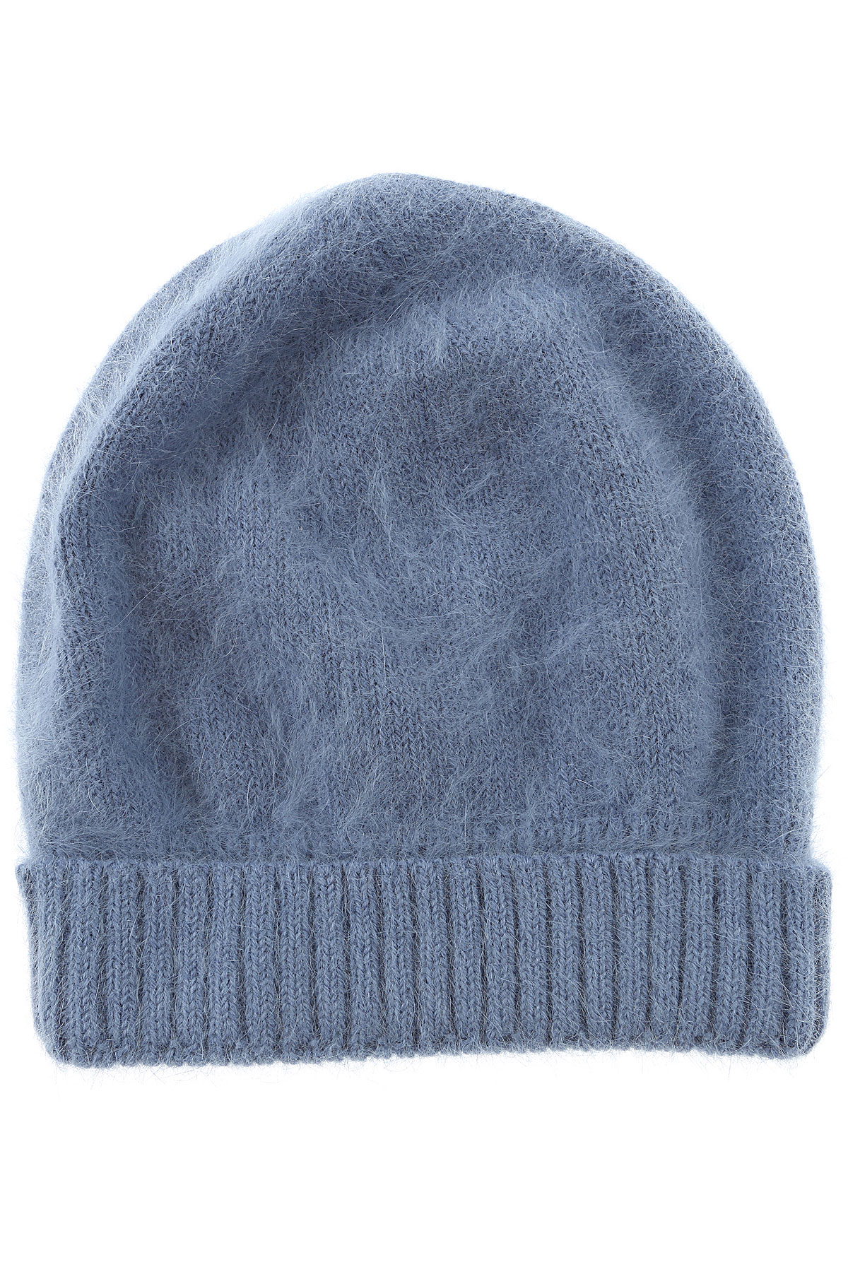 Image of Roberto Collina Hat for Women, Azure, Angora, 2017