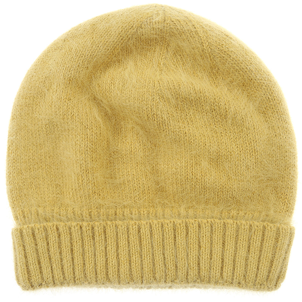 Image of Roberto Collina Hat for Women, Yellow, Angora, 2017