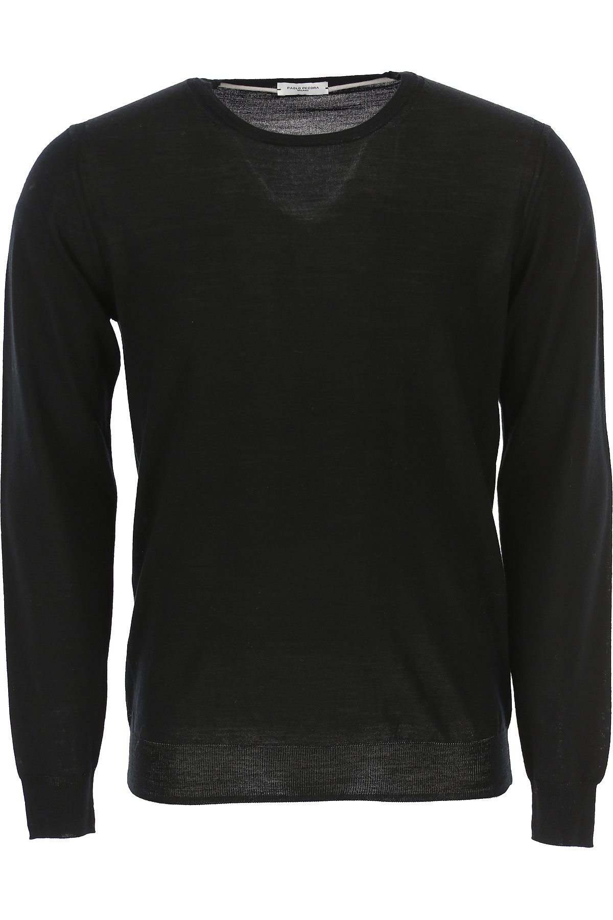Roberto Collina Sweater for Men Jumper, Black, Wool, 2019, S XL