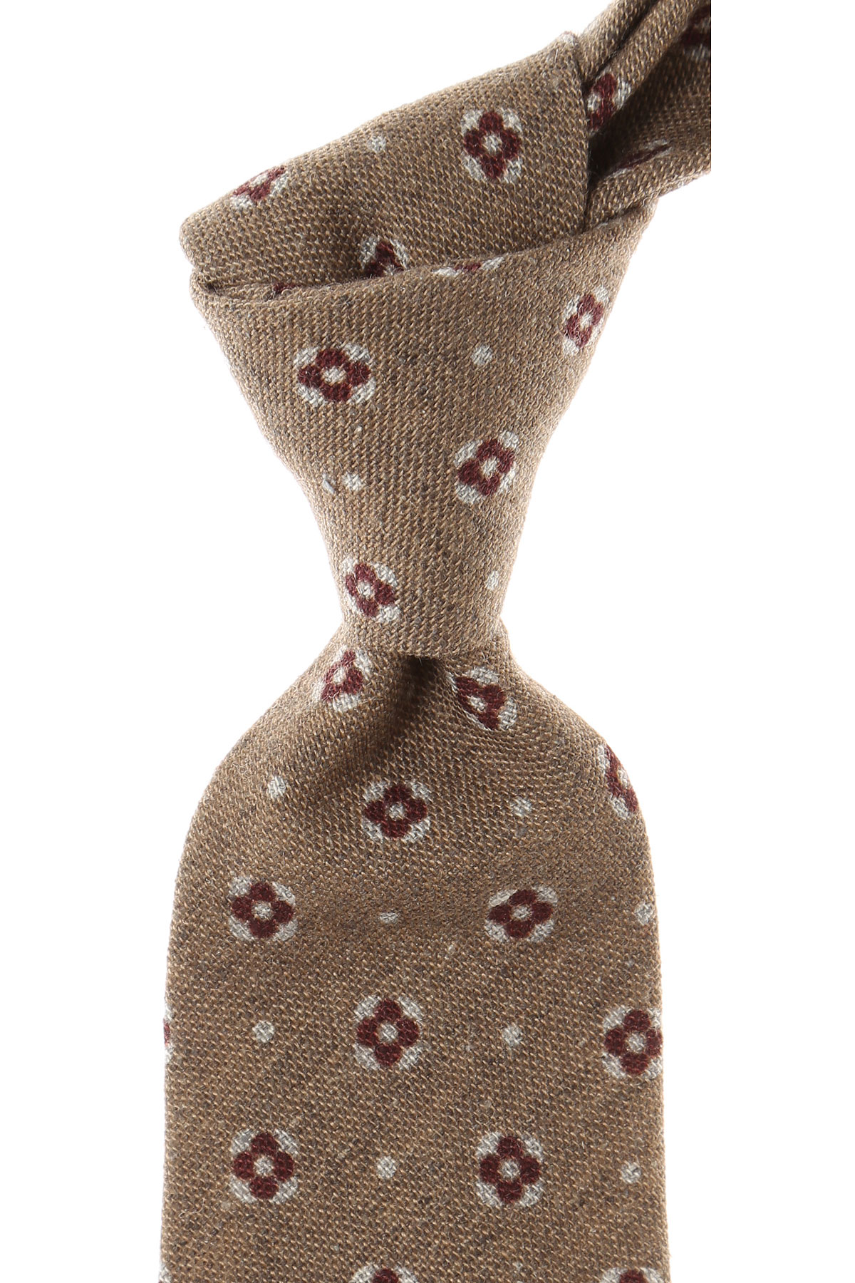 Roda Ties On Sale, Brown Melange, Wool, 2019