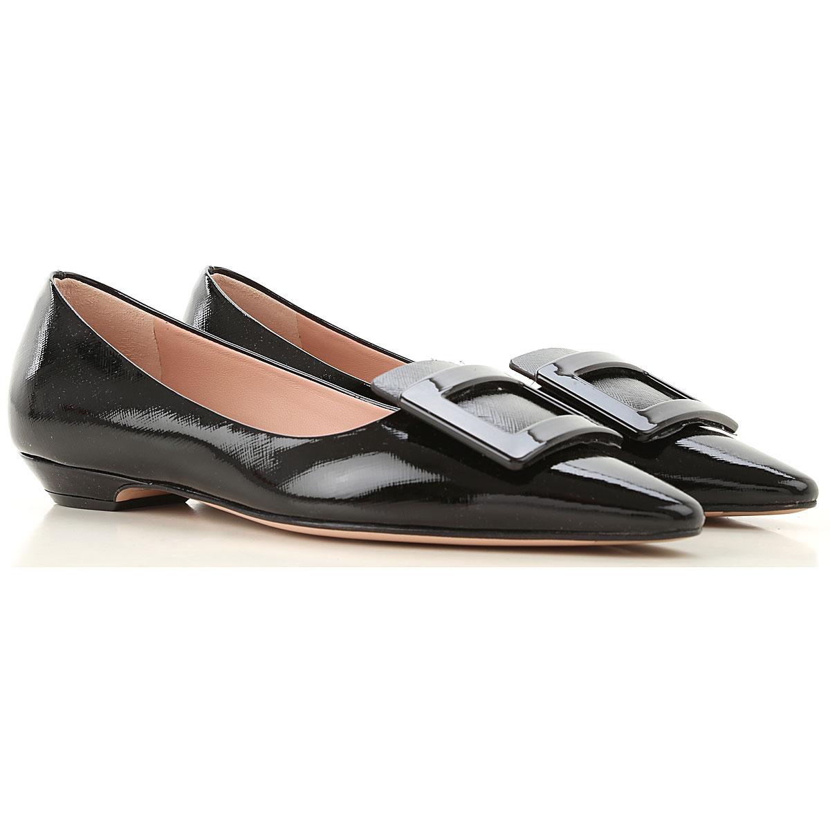 Roberto Festa Ballet Flats Ballerina Shoes for Women On Sale, Black, Patent Leather, 2019, 6 7