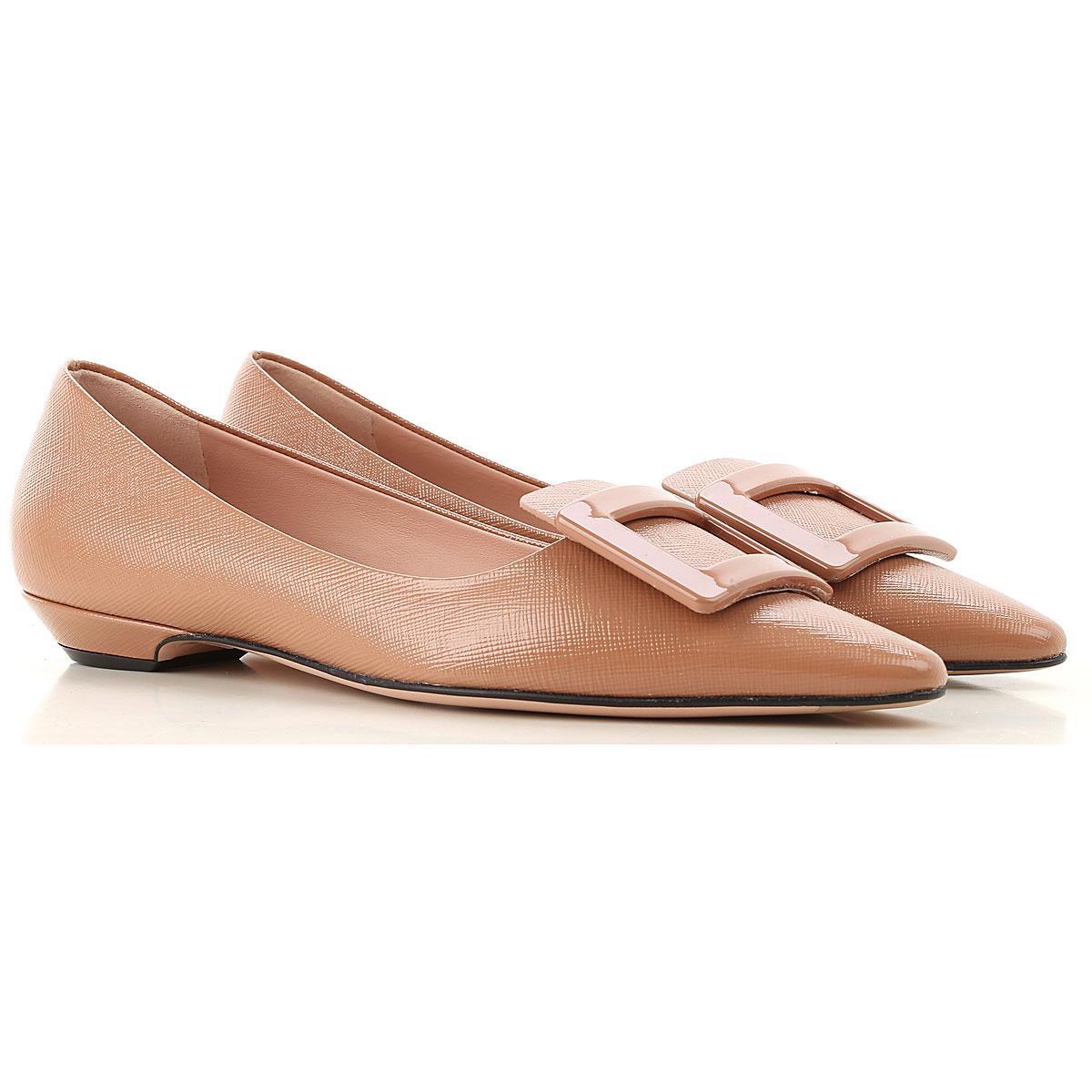 Roberto Festa Ballet Flats Ballerina Shoes for Women On Sale, dark Powder Rose, Leather, 2019, 6 7