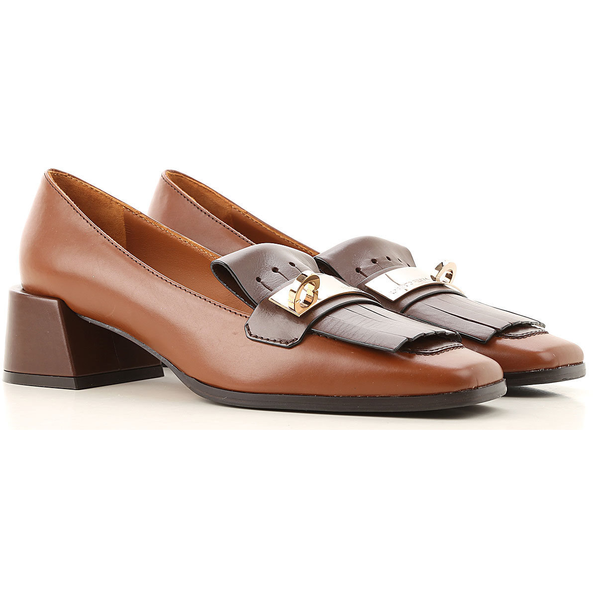 Roberto Festa Loafers for Women On Sale, Chocolate Brown, Leather, 2019, 6 8