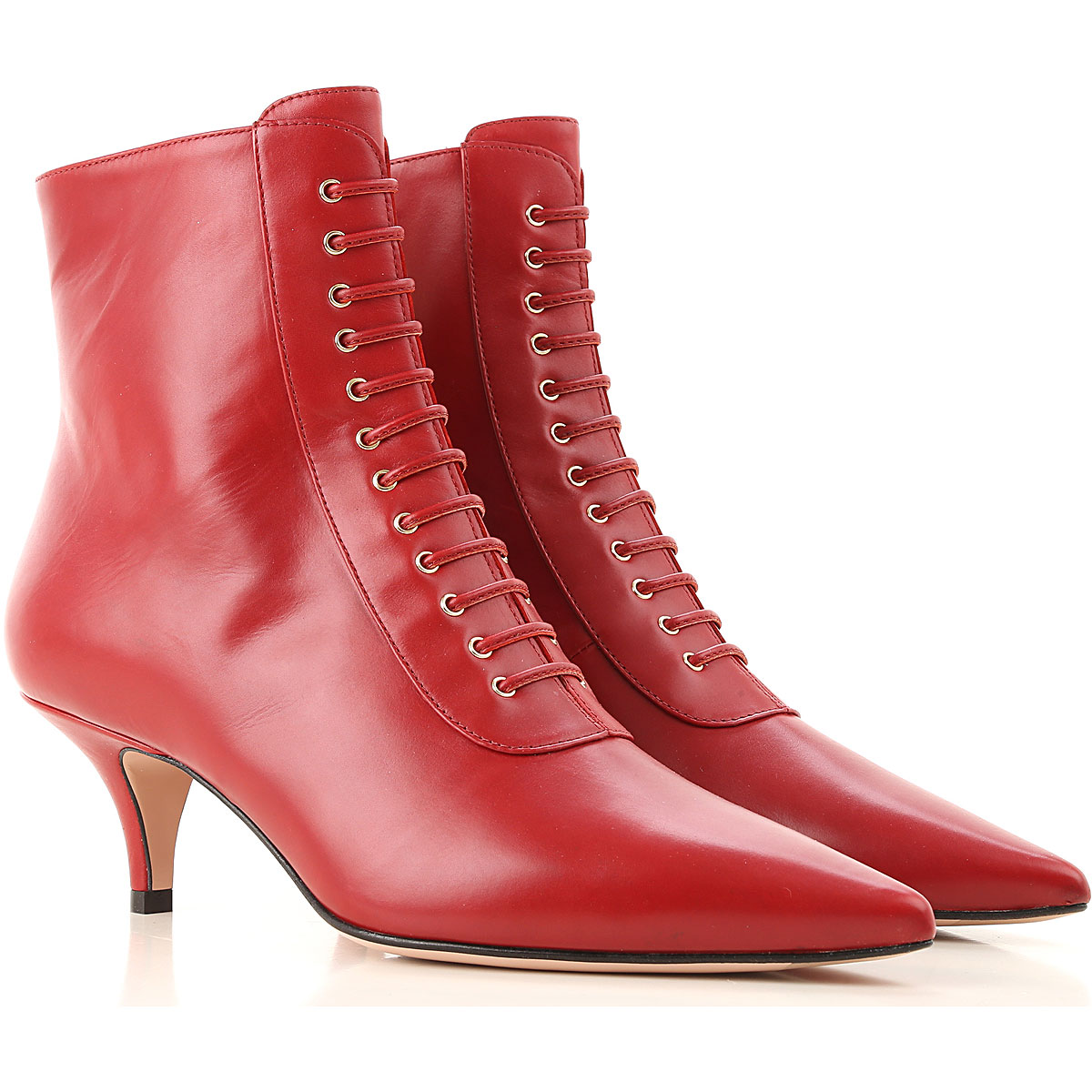 Roberto Festa Boots for Women, Booties On Sale, Dark Amaranth Red, Leather, 2019, 7 8 9
