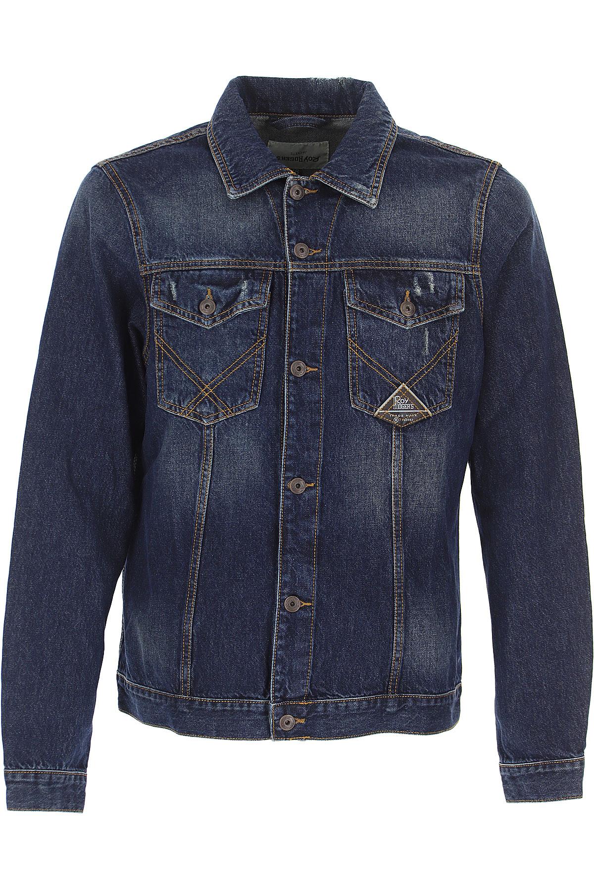 Roy Rogers Jacket for Men On Sale, Denim, Cotton, 2019, L M XL