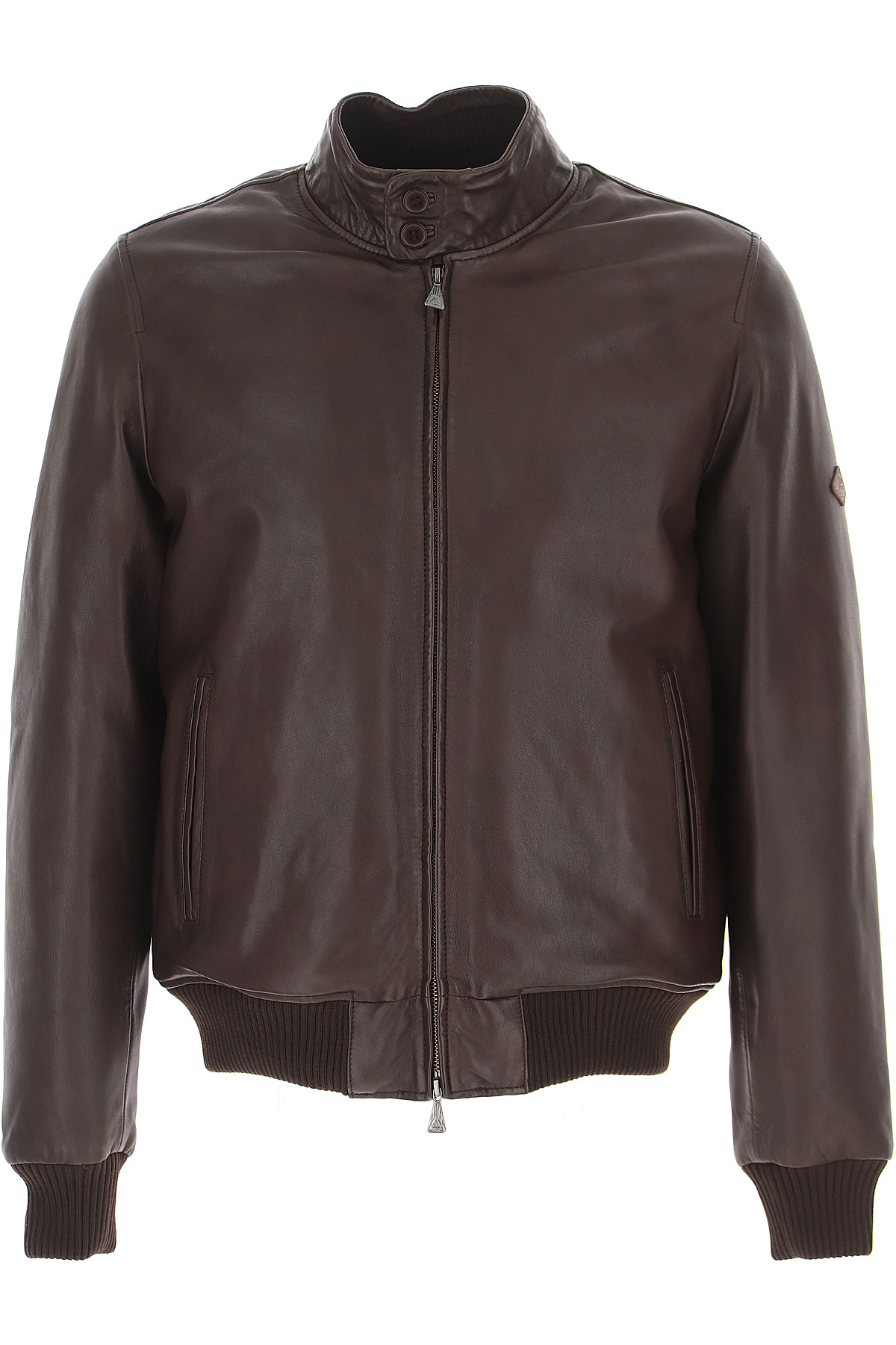 Roy Rogers Leather Jacket for Men On Sale, Dark Brown, Leather, 2019, L M XL XXL