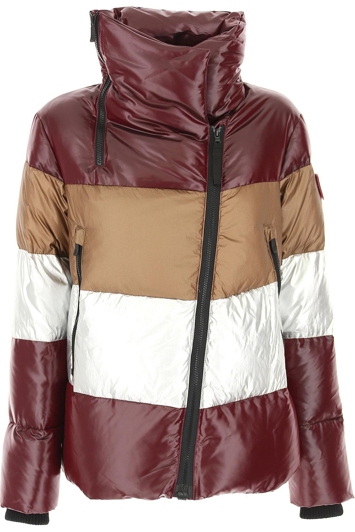 Rossignol Down Jacket for Women, Puffer Ski Jacket On Sale, Bordeaux, Down, 2019, 2 4