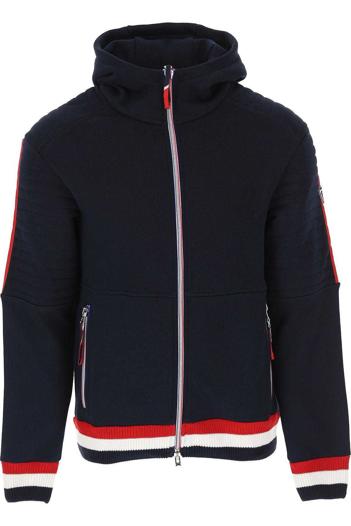 Rossignol Sweatshirt for Men On Sale, Navy Blue, Cotton, 2019, S XL