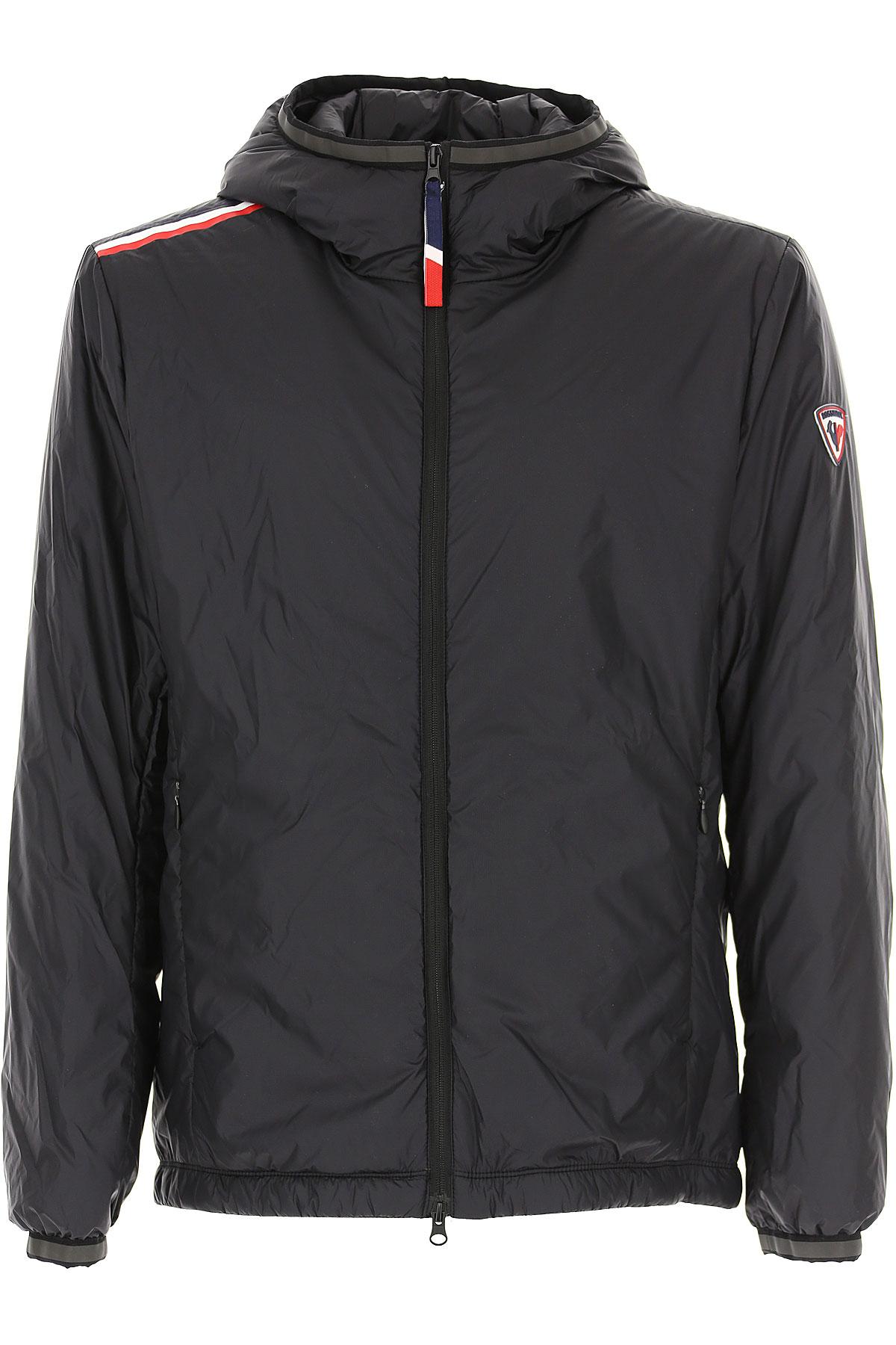 Rossignol Down Jacket for Men, Puffer Ski Jacket, Black, polyamide, 2019, L XL