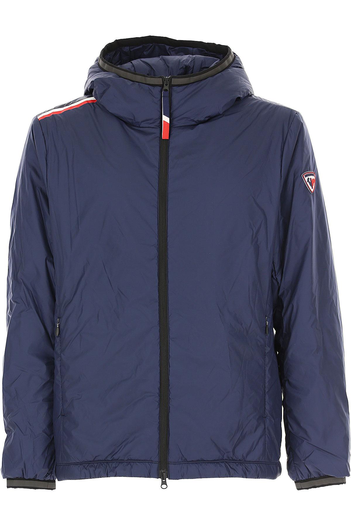 Rossignol Down Jacket for Men, Puffer Ski Jacket, dark Navy, polyamide, 2019, L M