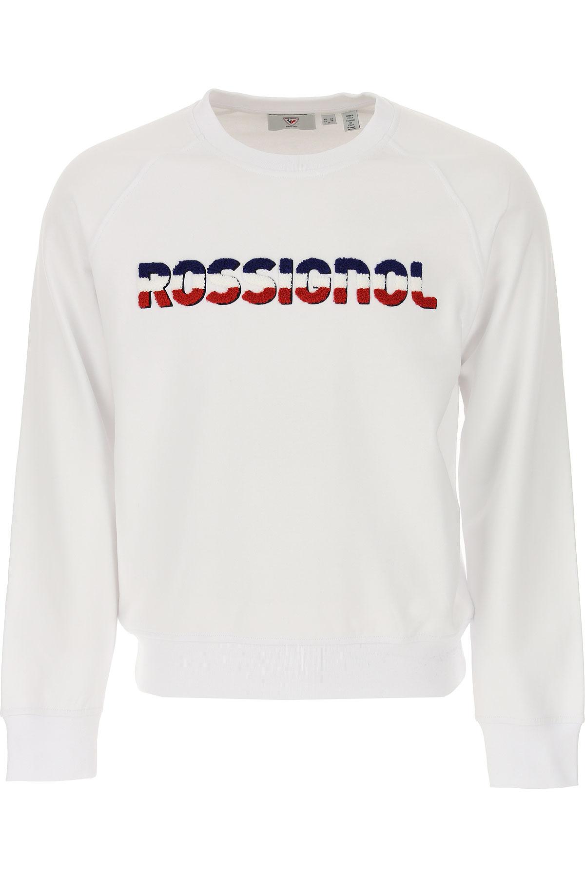 Rossignol Sweatshirt for Men On Sale, White, Cotton, 2019, L M S XL